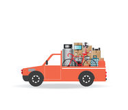 House Moving services transportation and logistic. Stock Photography