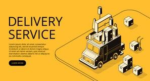 House moving or shop delivery vector illustration stock illustration
