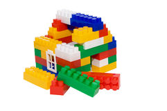 House from multi-colored constructor. child's play Stock Photo
