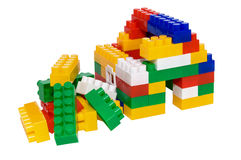 House from multi-colored constructor. child's play Stock Photos
