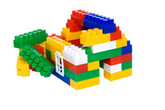 House from multi-colored constructor. child's play Stock Image
