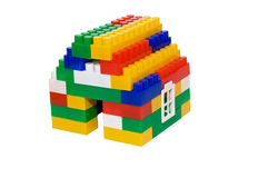 House from multi-colored constructor. child's play Royalty Free Stock Photos