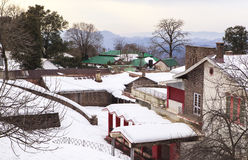 A House at Murree in winter, Pakistan. This photo is taken in Murree, Pakistan. Murree is a colonial era town located on the Pir Panjal Range within the Murree royalty free stock image