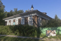 House Museum of Ivan Aleksandrovicha Kuskova city Totma, Vologda region Stock Photography