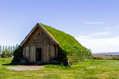 House is a museum in the open air. Iceland 11.06,2017 stock photos