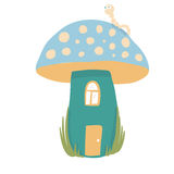 House mushroom in forest Stock Photos
