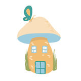 House mushroom in forest Royalty Free Stock Photography