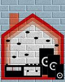House music on the wall Royalty Free Stock Image