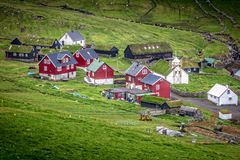 House in mykines Royalty Free Stock Images
