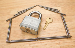 House of Nails with Lock and Key Stock Image