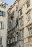 House in the Narodni trg street. House in the Narodni street TRG in the city of Split, Croatia Stock Photos