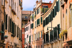 House on a narrow street in Venice, Italy Stock Photography