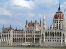 House of the nation and Danube Stock Image