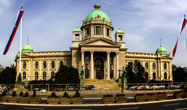 The House of the National Assembly of the Republic of Serbia in Belgrade. Serbia stock image
