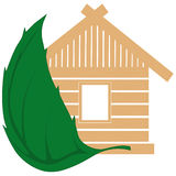 The house from natural building materials Royalty Free Stock Images
