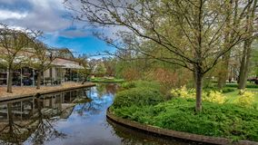House With Natural Canal View stock photos