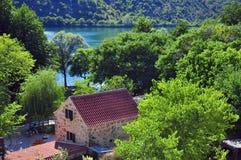 House in natural park. Krka, Croatia Stock Images