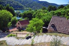 House in natural park. Krka, Croatia Stock Photos