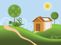 House and nature Stock Photography