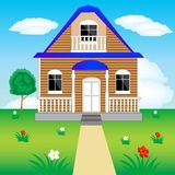 House on nature Royalty Free Stock Photo