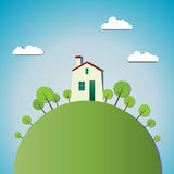 House and Nature Royalty Free Stock Photos