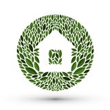 House and nature. Logo, icon, emblem, template Royalty Free Stock Photography