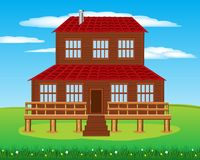 House on nature Royalty Free Stock Images