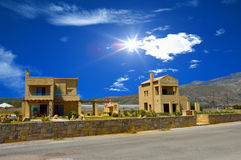 House near the beach, Crete island, Greece Royalty Free Stock Photos