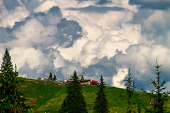 The house near the clouds Royalty Free Stock Images