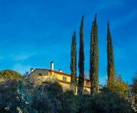 A house near Florence. Tuscany. Italy. Stock Image