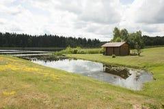 House near the lake Stock Image