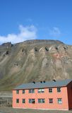 House near the Mine. A house situated near a mine in Lonyearbyen, a Svalbard community in Norway Stock Images