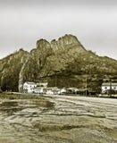 House near the mountain Stock Image