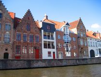 Houses in the Brugge royalty free stock images