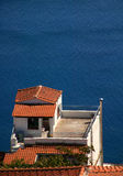 House near sea. In greece Stock Images