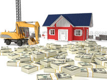 House need money Royalty Free Stock Photography