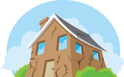 House in need of repair. Illustration of a house in disrepair Stock Images