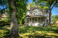 House in the Neighborhood. House in Oak Park in a Sunny Day Stock Photography