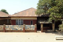 House in a neighborhood in Southern Johannesburg. House in a neighborhood in a less wealthy area of Southern Johannesburg, South Africa Royalty Free Stock Image