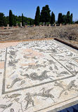 House of Neptune, the Roman city of Italica, Andalusia, Spain Royalty Free Stock Photography