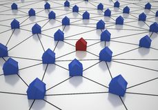House Network Royalty Free Stock Photos