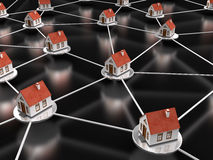 House Network on black Royalty Free Stock Photos