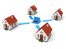 House Network with laptop Stock Photo