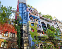 Hundertwasser house in Vienna Royalty Free Stock Photos