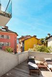 House, nice terrace Stock Photography