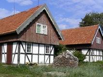 House in Nida. Old-stile house in Lithuania's countryside at Nida stock photography