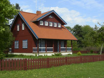 House in Nida. Old-stile house in Lithuania's countryside at Nida royalty free stock image