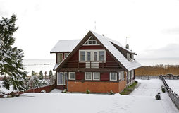House in Nida. Curonian Spit. Lithuania Stock Photo
