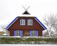 House in Nida. Curonian Spit. Lithuania Royalty Free Stock Photo
