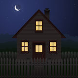 House at night Stock Photography